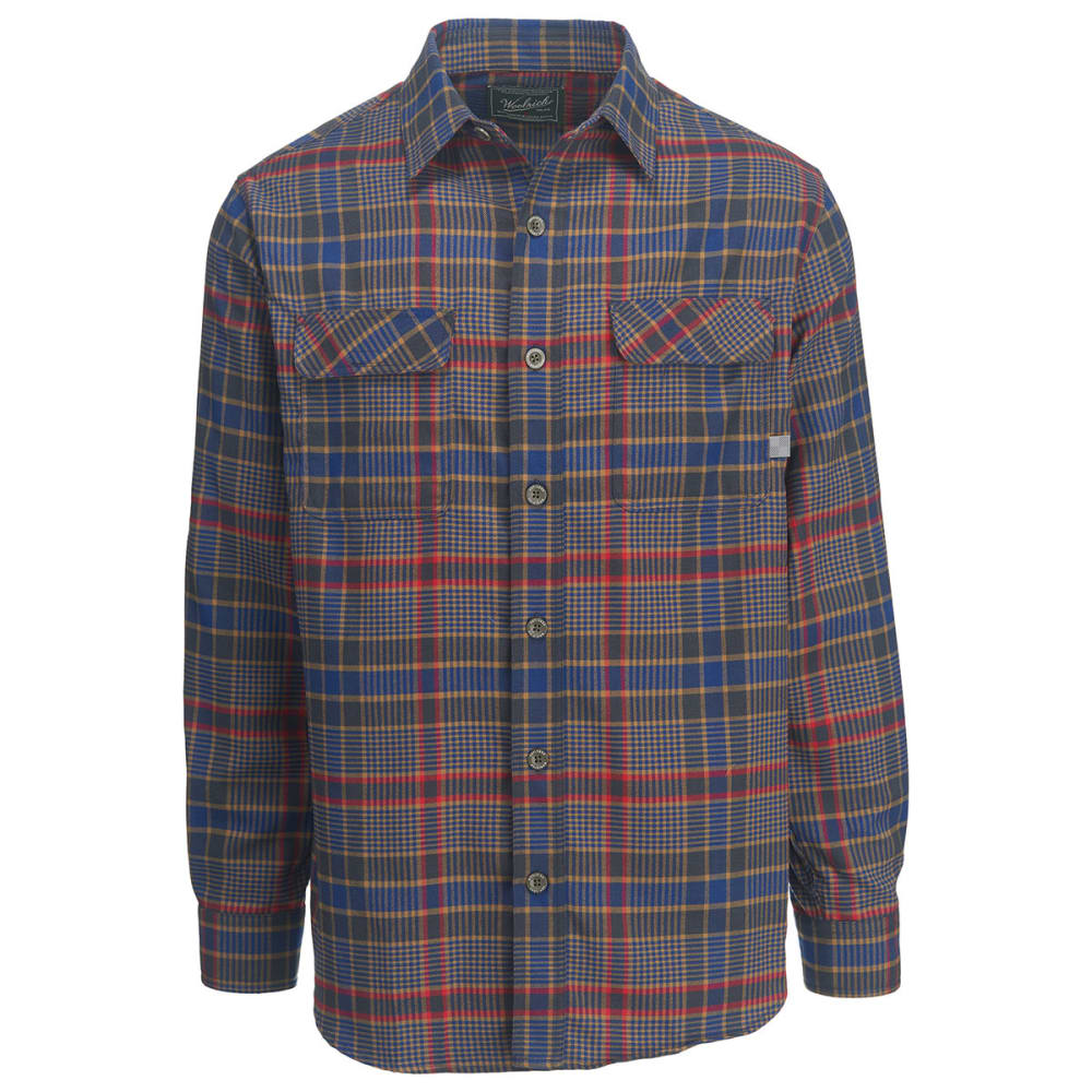 WOOLRICH Men's Hiker's Trail Classic Fit Flannel Shirt II - NEW ROYAL BLUE
