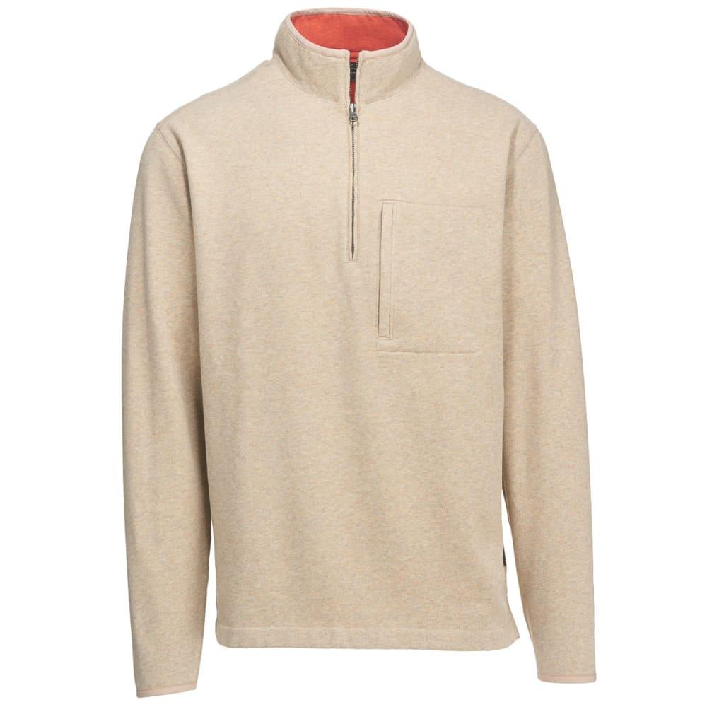WOOLRICH Men's Boysen Half Zip Pullover Sweater Fleece II - OATMEAL HEATHER