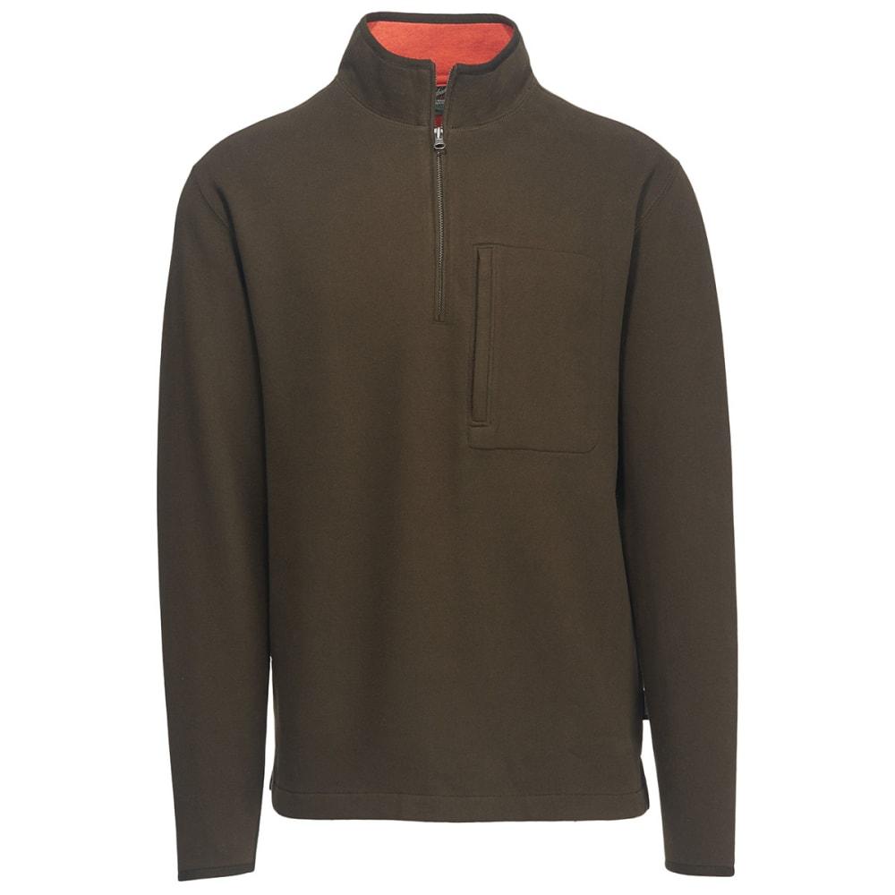 WOOLRICH Men's Boysen Half Zip Pullover Sweater Fleece II - DK LODEN