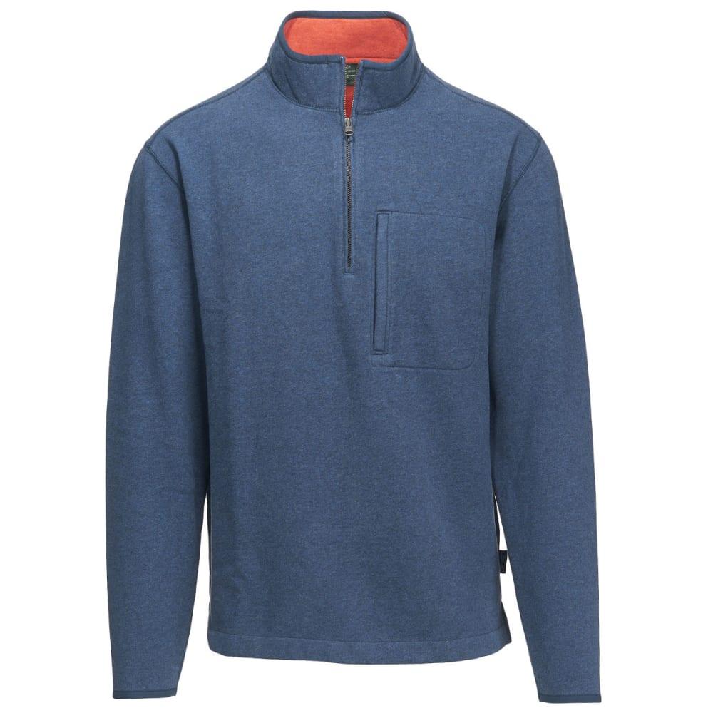 WOOLRICH Men's Boysen Half Zip Pullover Sweater Fleece II - DP INDIGO HEATHER