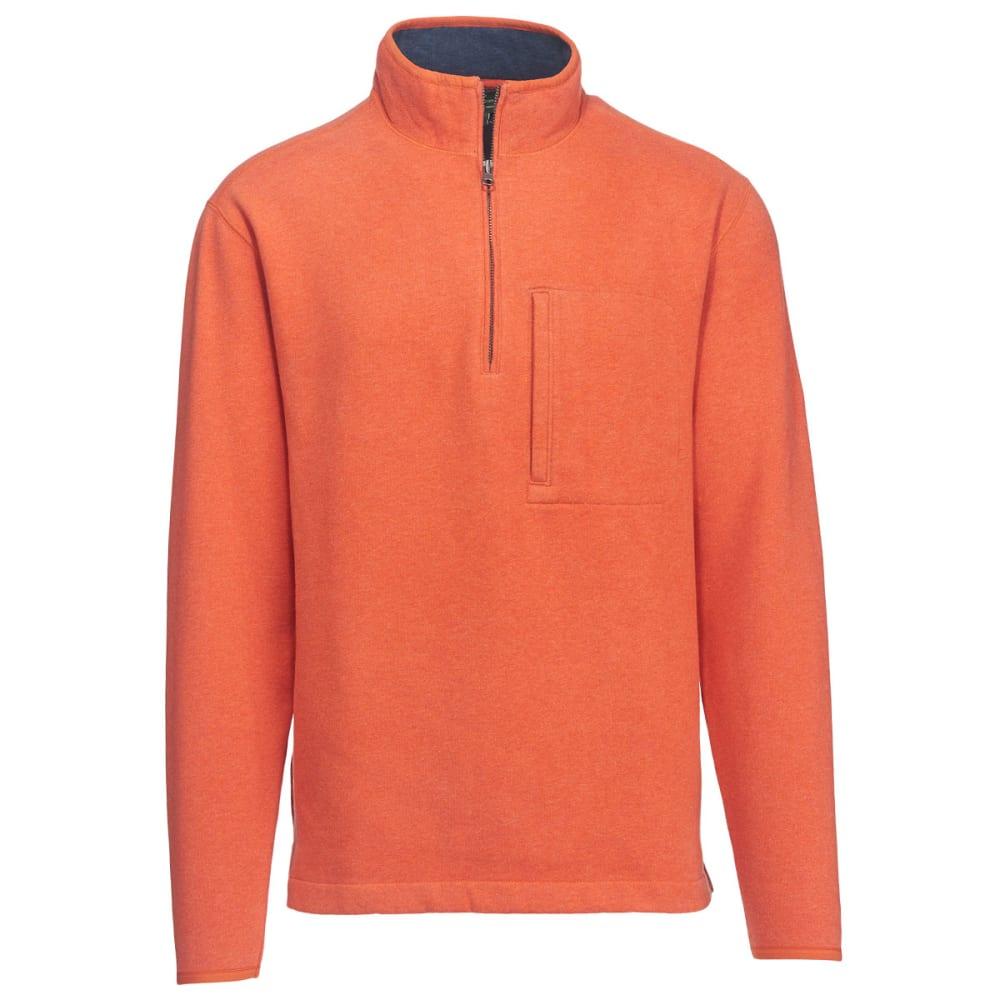 WOOLRICH Men's Boysen Half Zip Pullover Sweater Fleece II - PERSIMMON HEATER