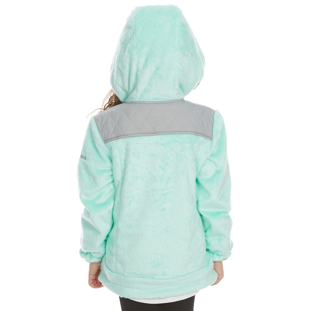 FREE COUNTRY Little Girls' Butterpile Overlay Sherpa Jacket - MINT REALITY
