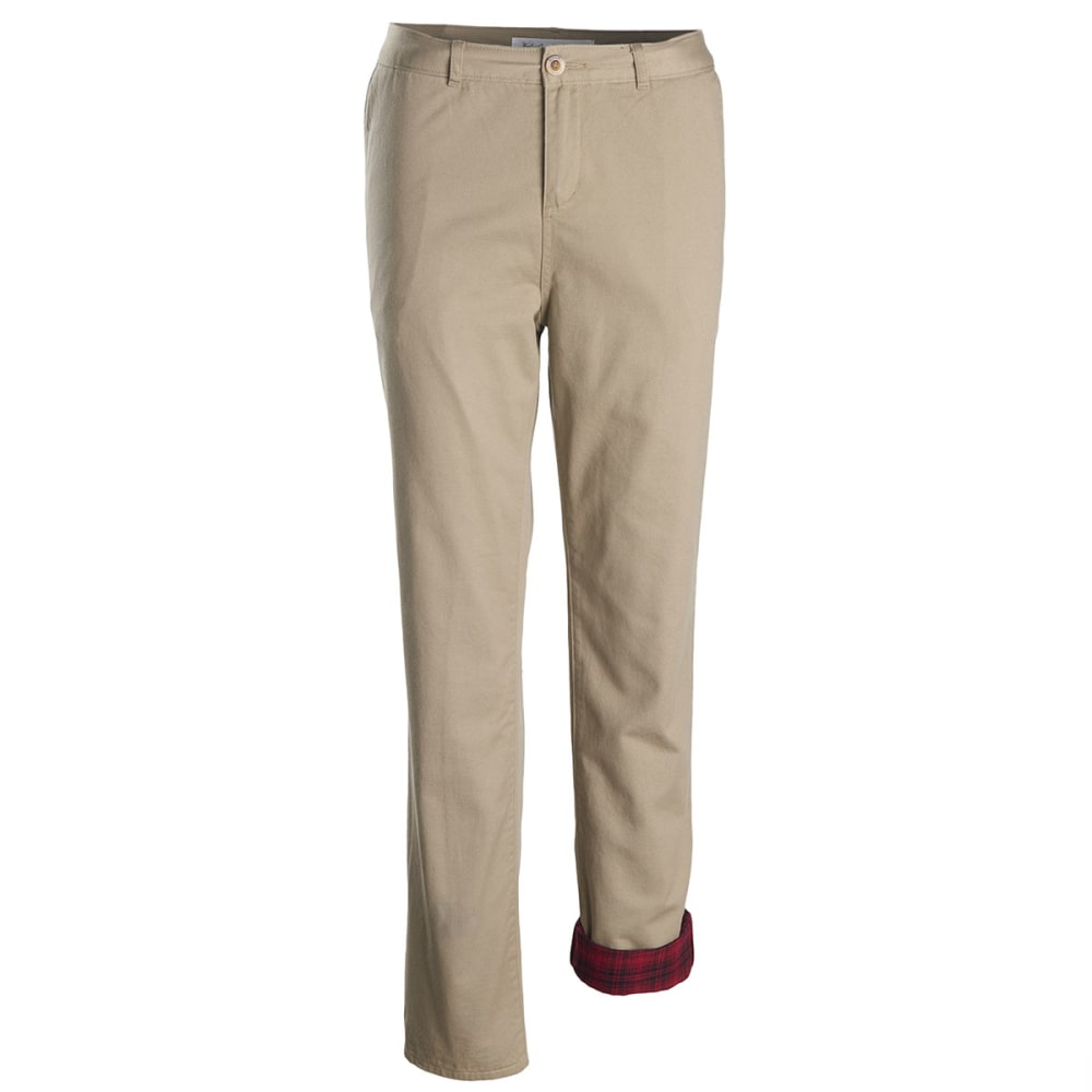 WOOLRICH Women's Alderglen Flannel Lined Chino Pants - KHAKI