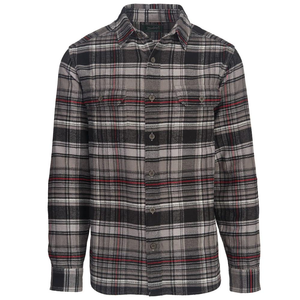 WOOLRICH Men's Oxbow Bend Plaid Flannel Shirt - STEEL GRAY