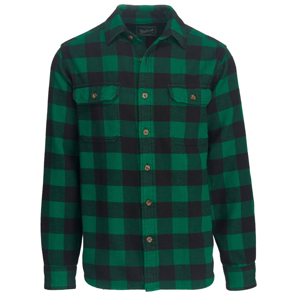 WOOLRICH Men's Oxbow Bend Plaid Flannel Shirt, Classic Fit - FOREST