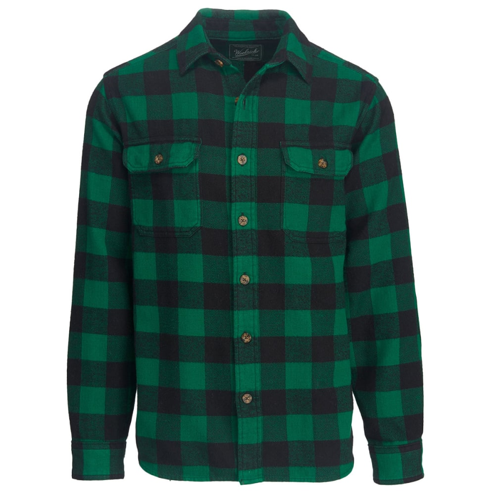 WOOLRICH Men's Oxbow Bend Plaid Flannel Shirt, Modern Fit - FOREST