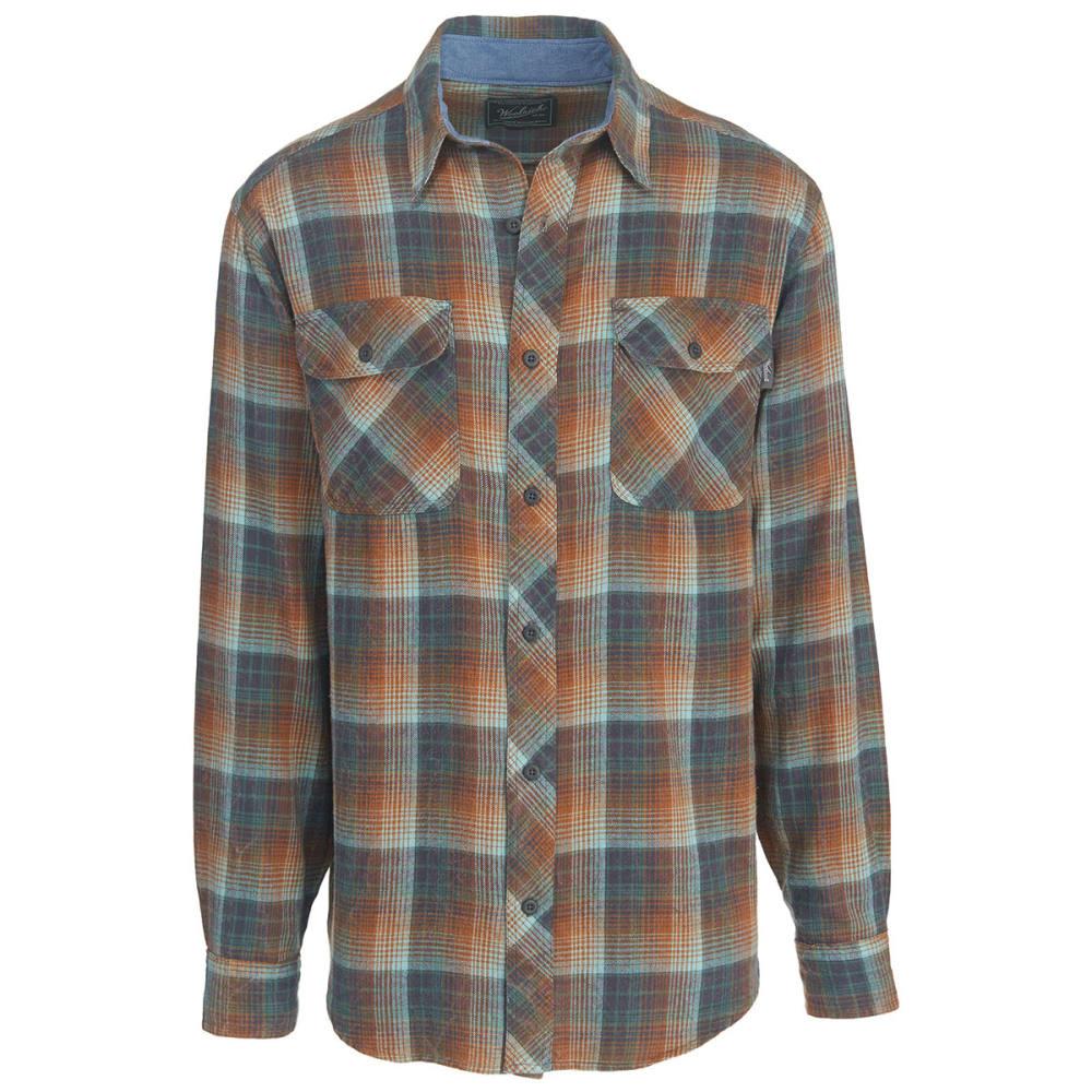 WOOLRICH Men's Miners Wash Modern Fit Flannel Shirt - MALLARD GREEN