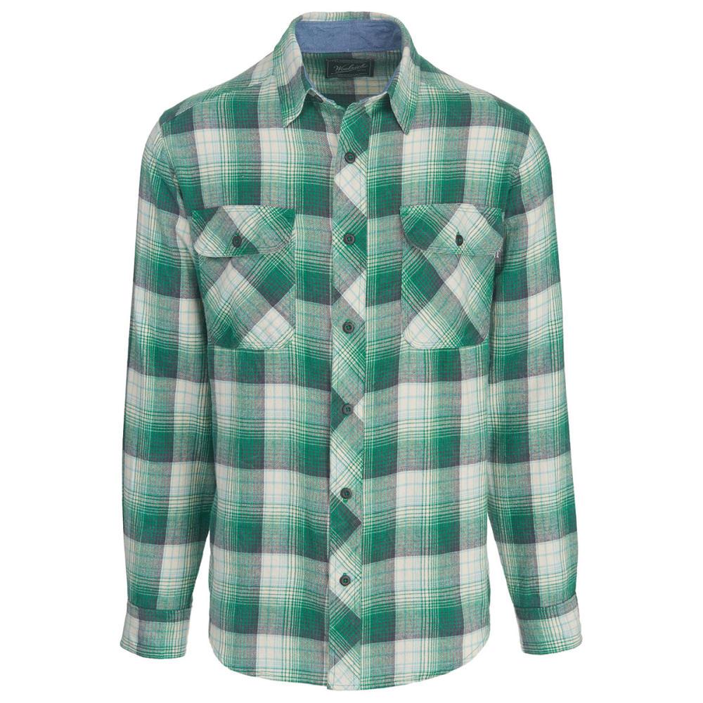 WOOLRICH Men's Miners Wash Modern Fit Flannel Shirt - FOREST GREEN