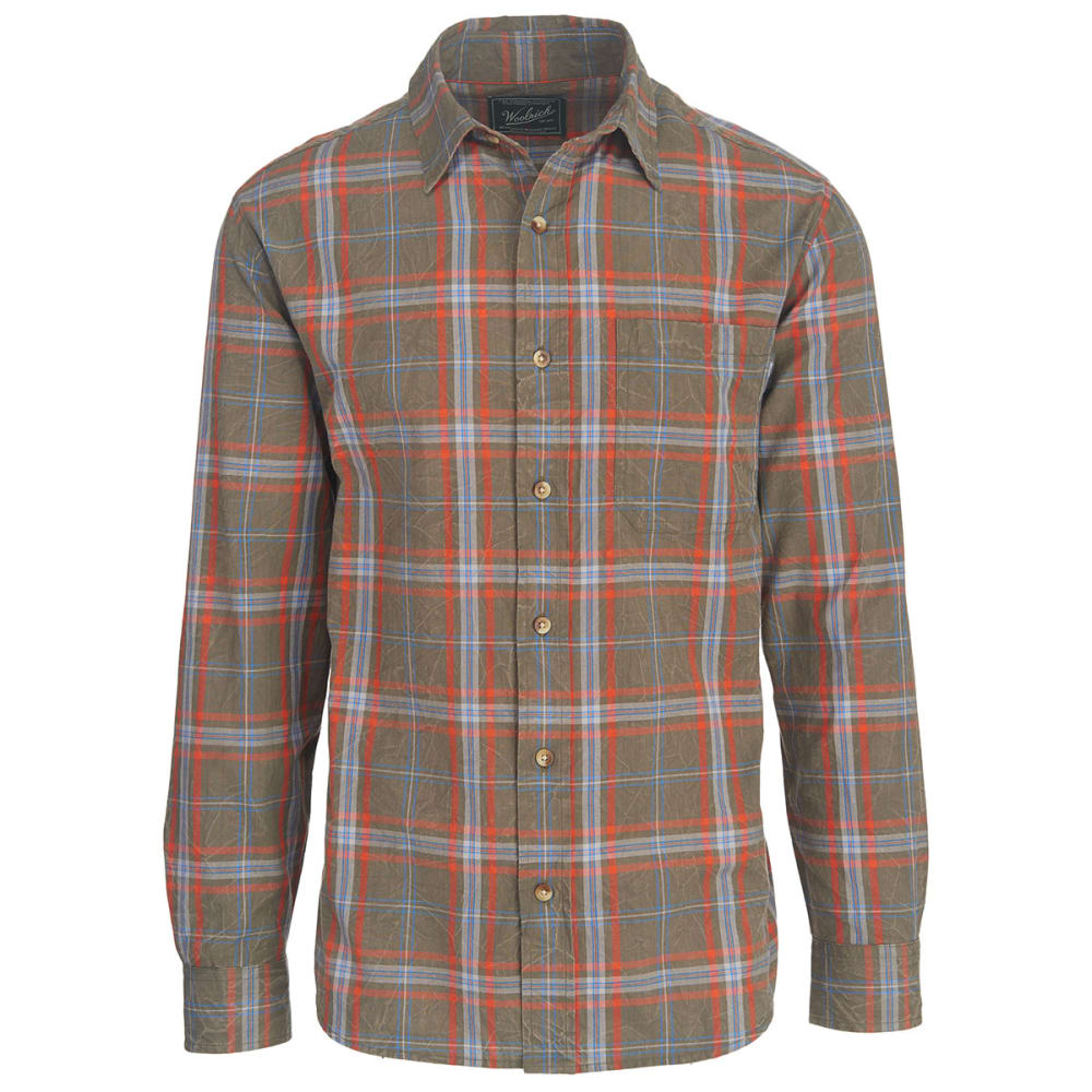 WOOLRICH Men's Red Creek Long Sleeve Shirt II - BUNGEE CORD