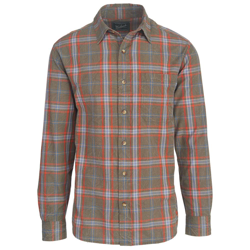 WOOLRICH Men's Red Creek Long Sleeve Shirt II - BUNGEE CORD