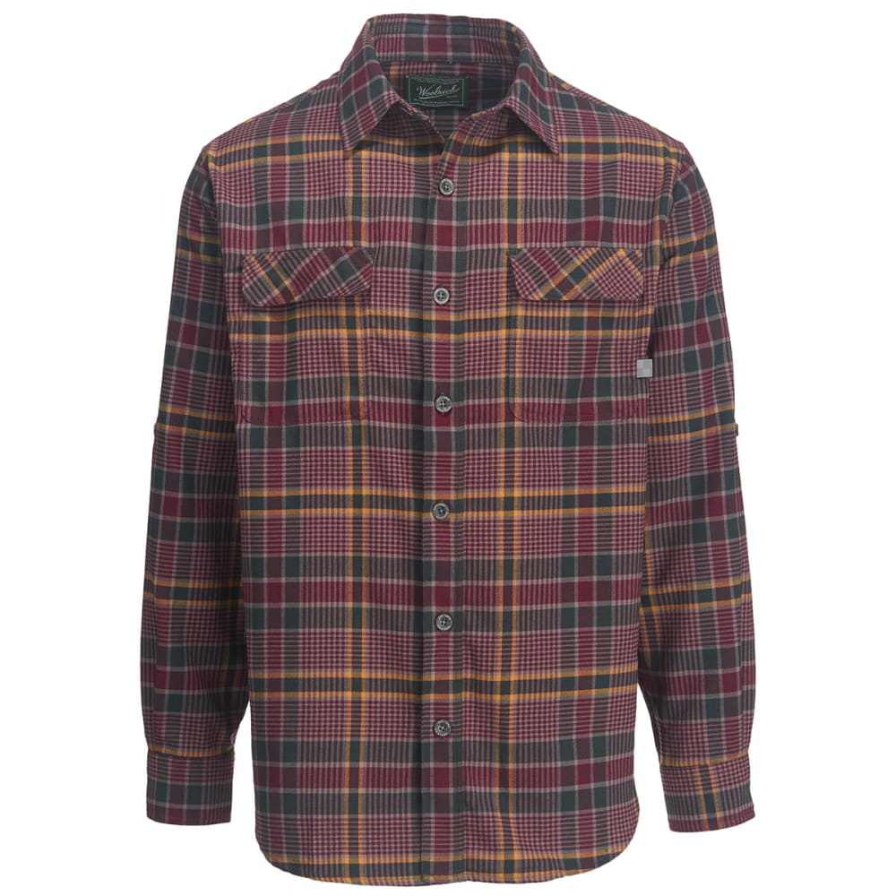 WOOLRICH Men's Hiker's Trail Modern Fit Flannel Shirt II - PORT