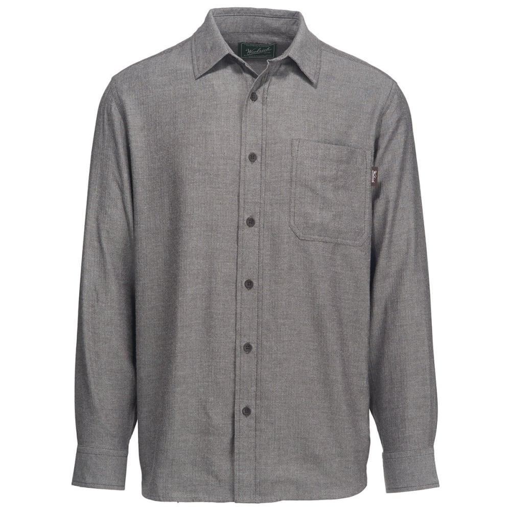 WOOLRICH Men's Stone Rapids Eco Rich Solid Shirt - DARK WALNUT HERRINGB