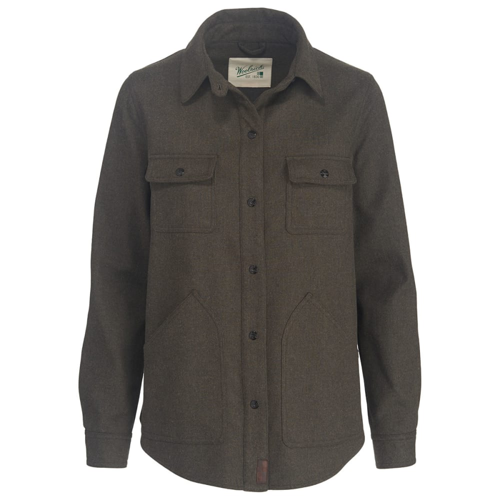 WOOLRICH Women's West Ridge Shirt Jac - BLACK HTHR