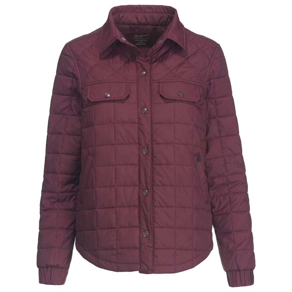 WOOLRICH Women's Heritage Eco Rich Packable Shirt Jac - WINE