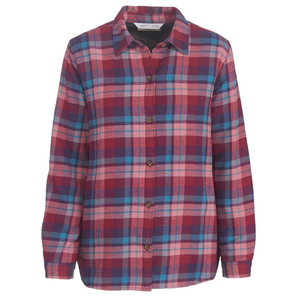 WOOLRICH Women's Pemberton Insulated Flannel Shirt Jac - PURPLE PLUMERIA PLD