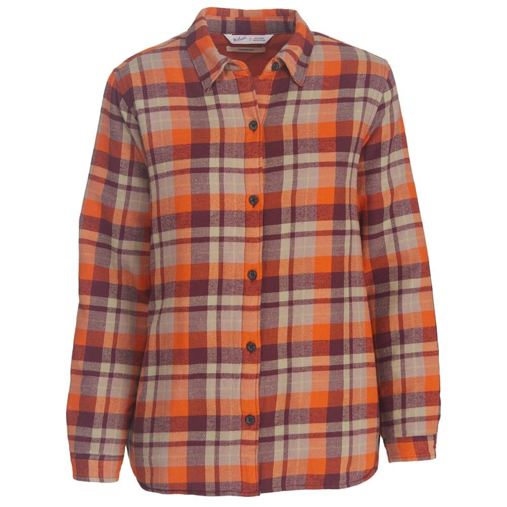 WOOLRICH Women's Pemberton Insulated Flannel Shirt Jac - WINE PLAID