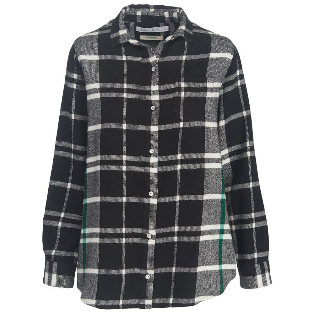 WOOLRICH Women's Oxbow Bend Eco Rich Boyfriend Shirt - BLACK