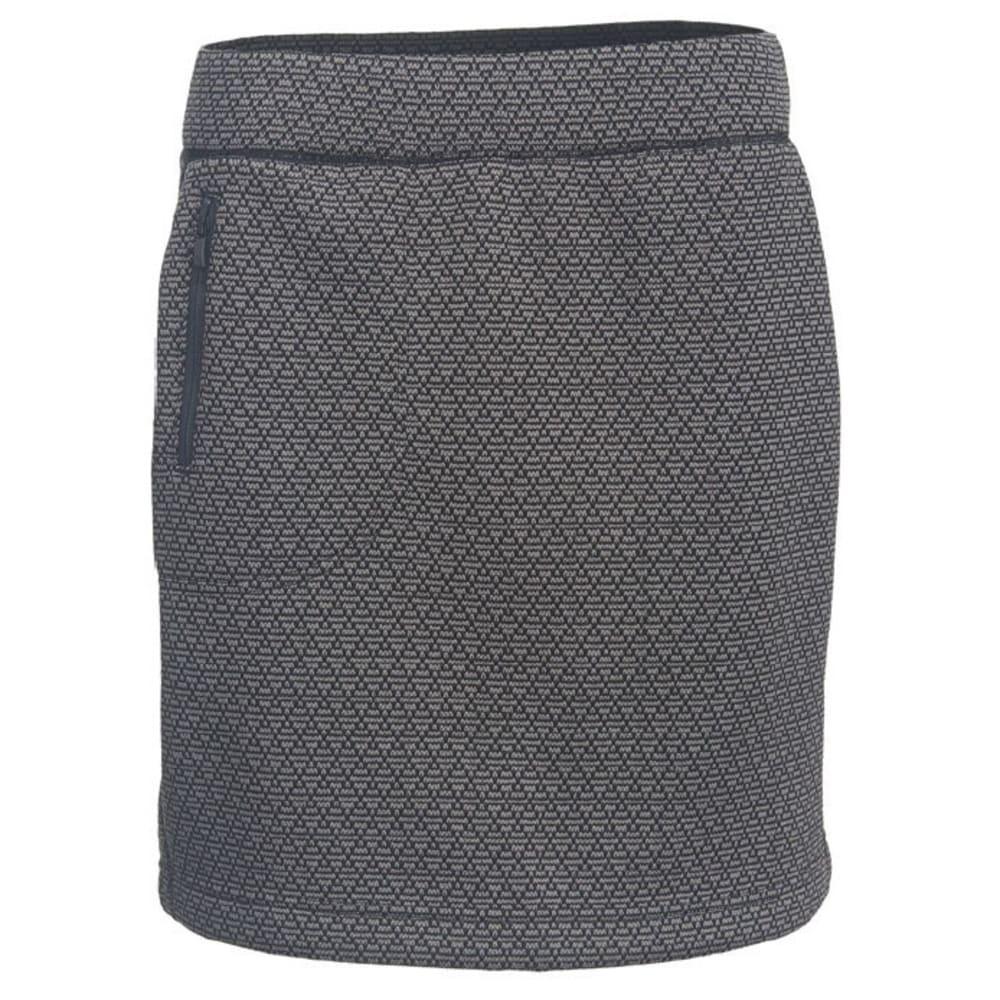 WOOLRICH Women's Lochlyn Fleece Skirt - BLACK