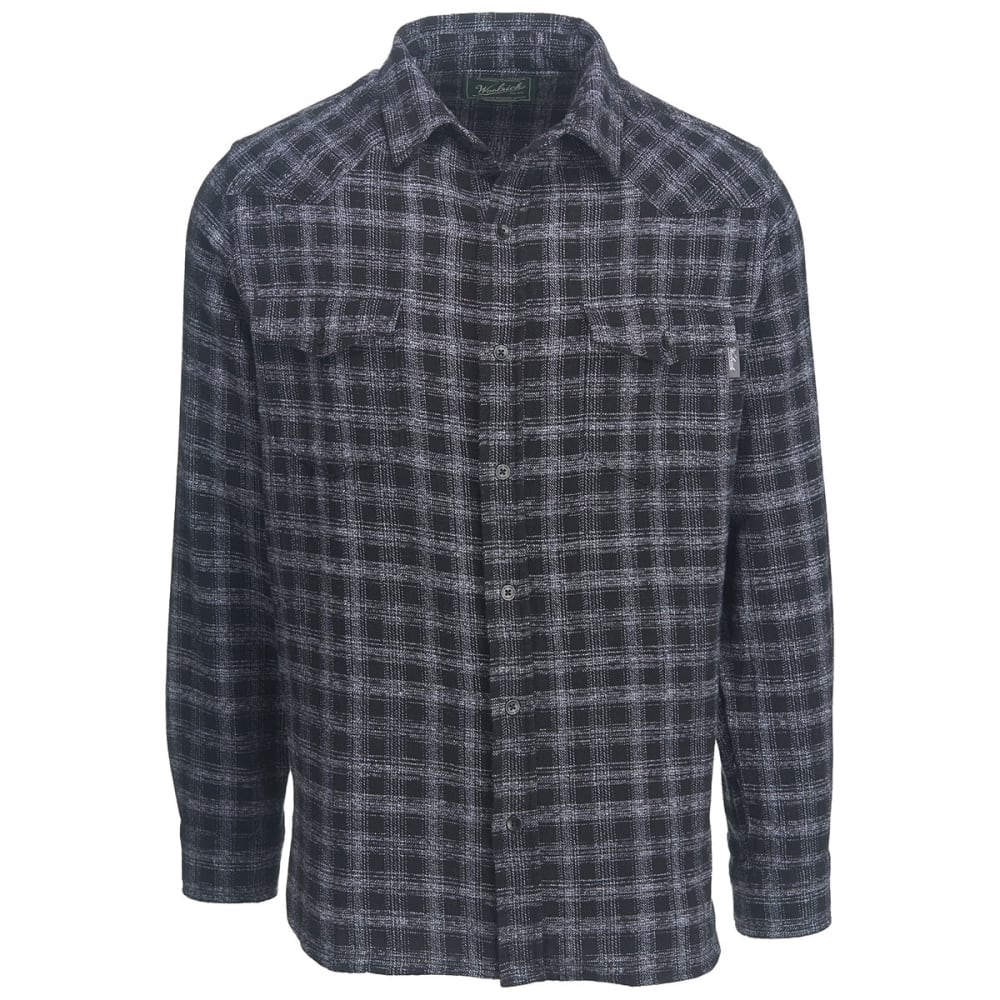 WOOLRICH Men's Southfield Space Dye Modern Fit Shirt - BLACK