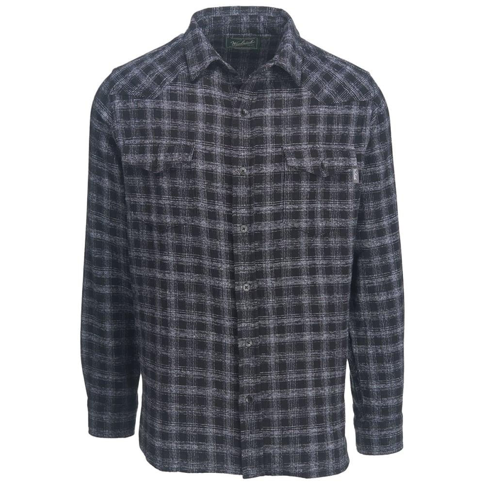 WOOLRICH Men's Southfield Space Dye Modern Fit Shirt - BLACK
