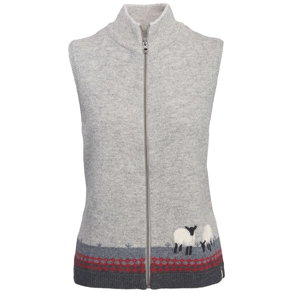 WOOLRICH Women's Grazing Sheep Lambs Wool Vest - GRAY HEATHER