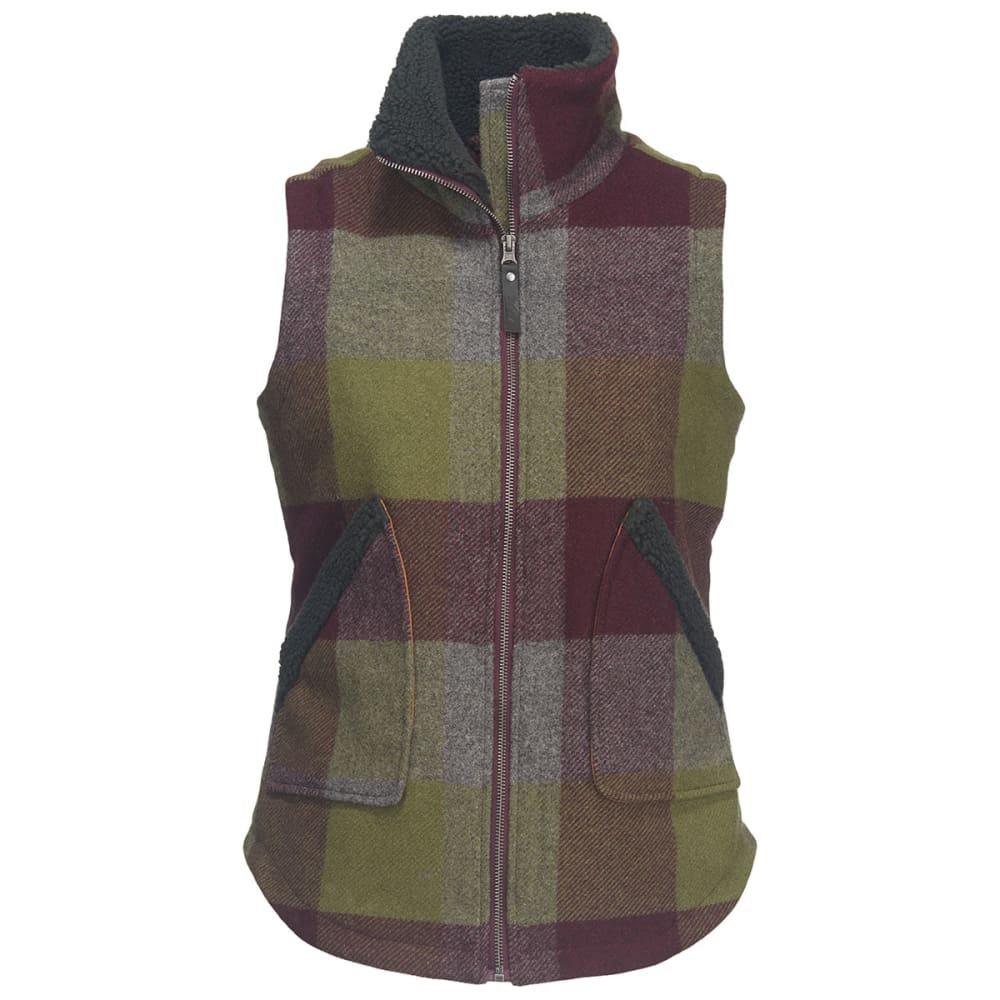 WOOLRICH Women's Giant Buffalo Wool Vest II - COOL GRAY