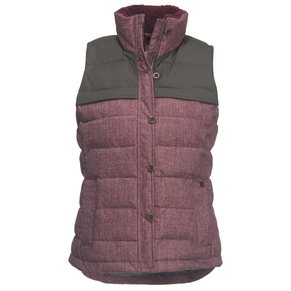 WOOLRICH Women's Bitter Chill Wool Loft Vest - BURGUNDY