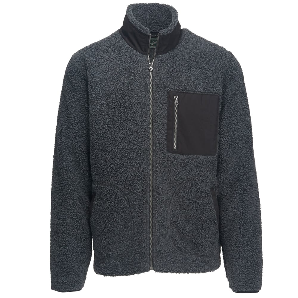 WOOLRICH Men's Glacier View Fleece Full Zip Jacket - CHARCOAL HEATHER