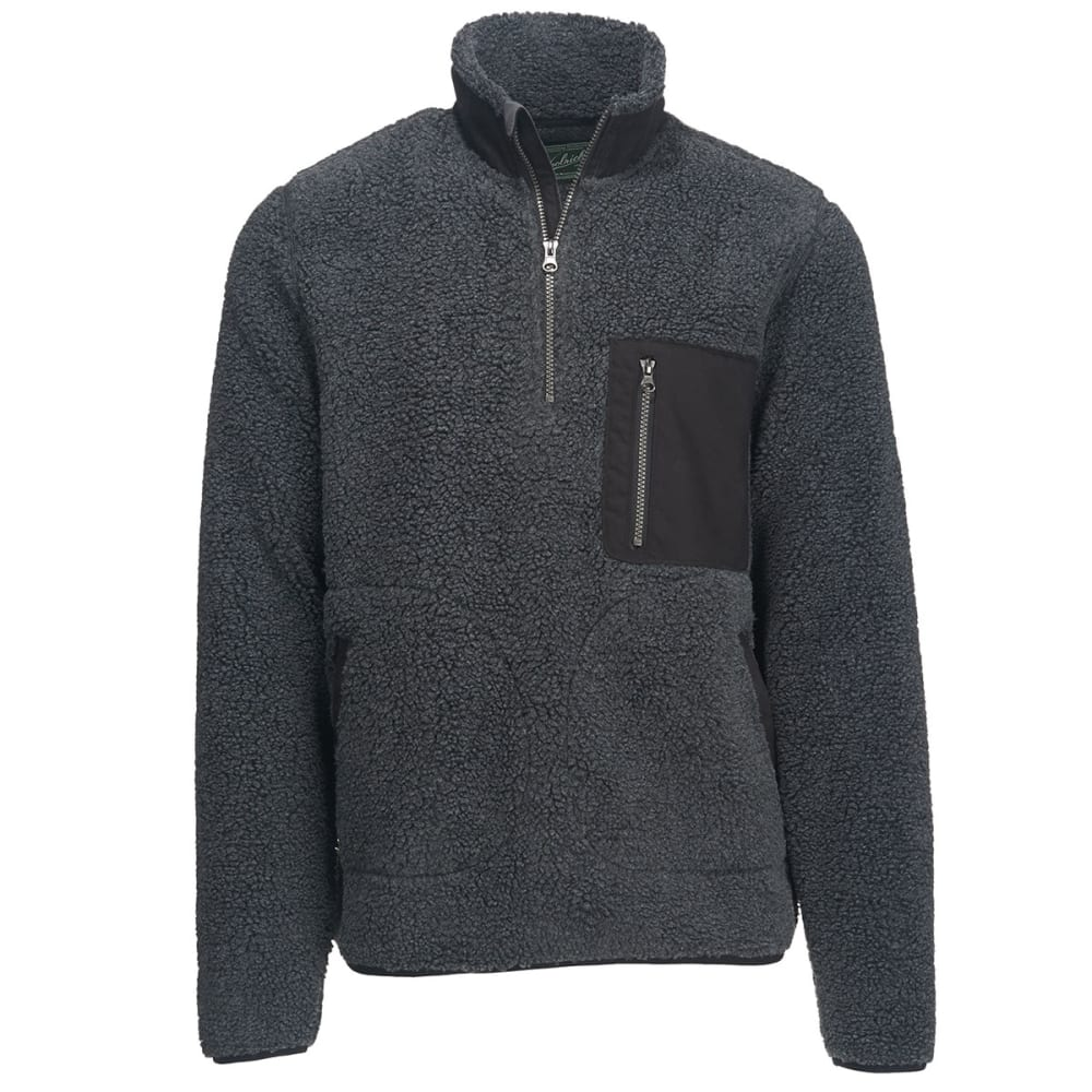 WOOLRICH Men's Glacier View Fleece Half Zip Pullover - CHARCOAL HEATHER