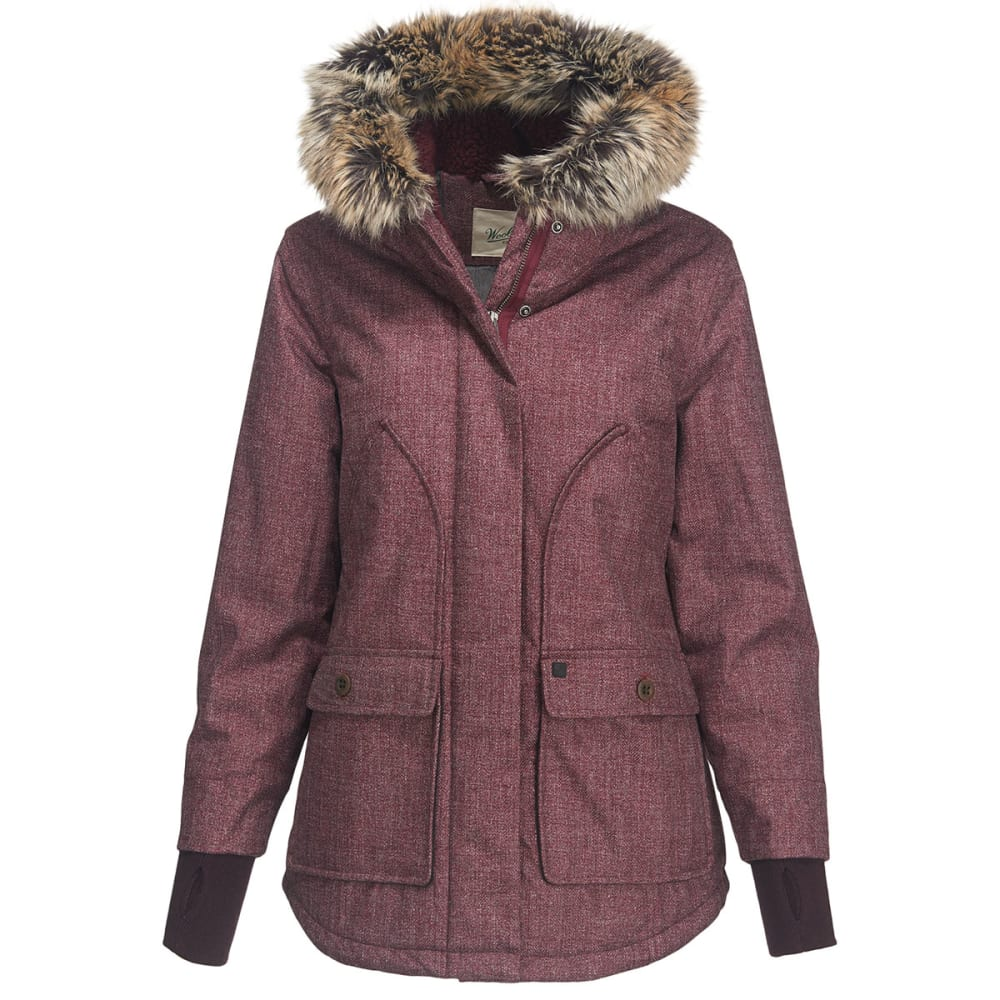 WOOLRICH Women's Bitter Chill Wool Loft Jacket - BURGUNDY