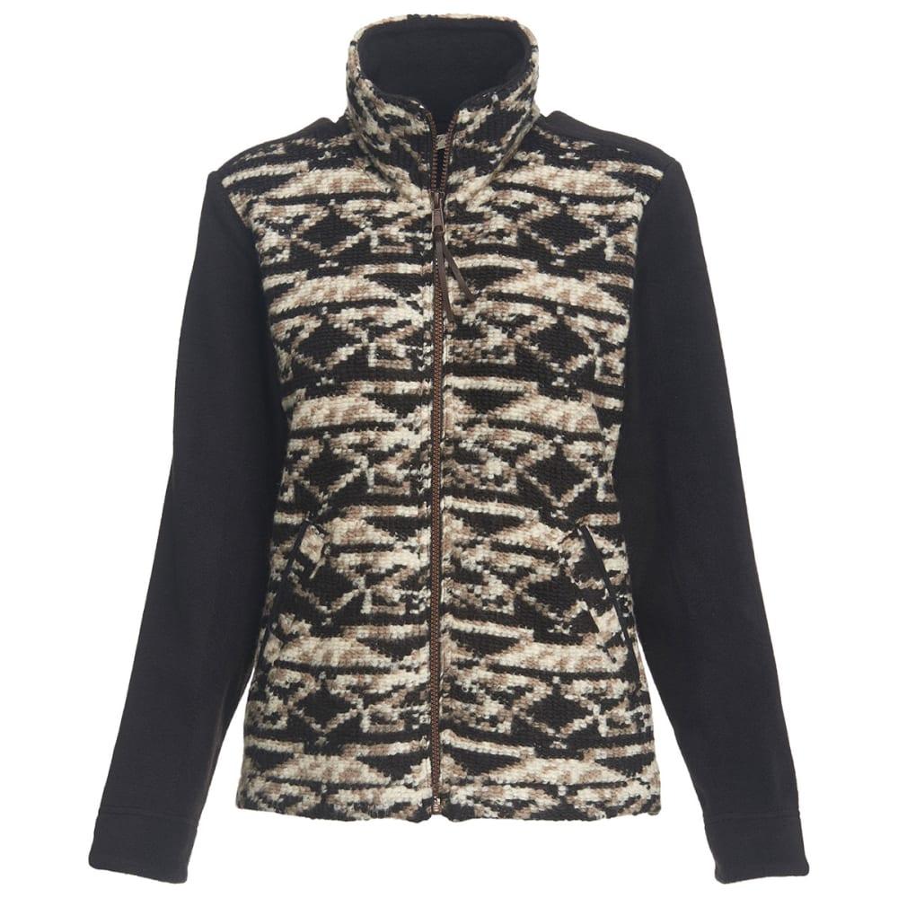 WOOLRICH Women's Northglen Wool Fleece Jacket - BLACK