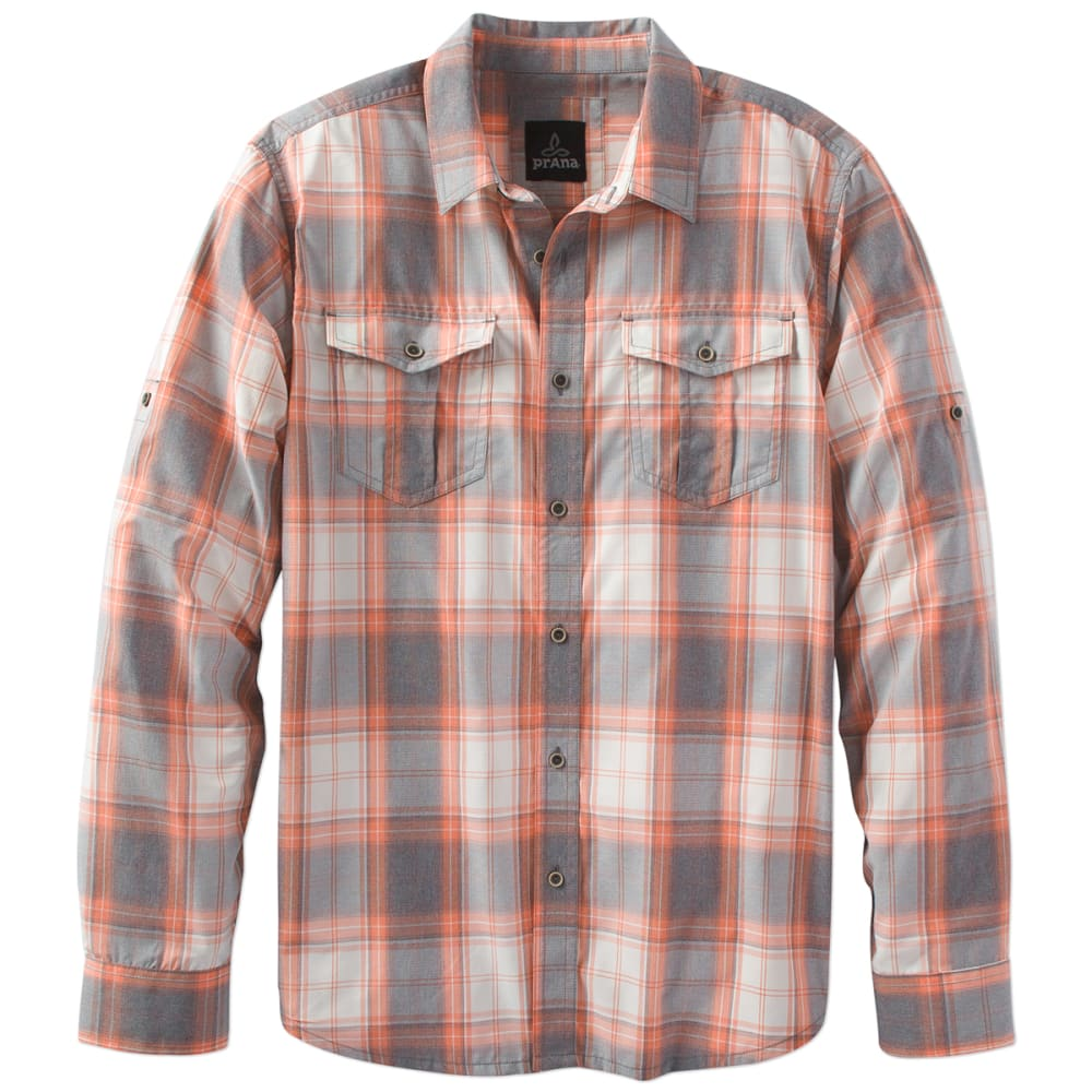 PRANA Men's Ascension Long-Sleeve Shirt - ORANGE CRUSH-ORCR