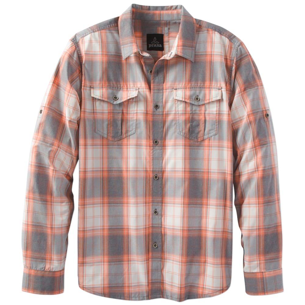 PRANA Men's Ascension Long-Sleeve Shirt - ORANGE CRUSH-ORCR