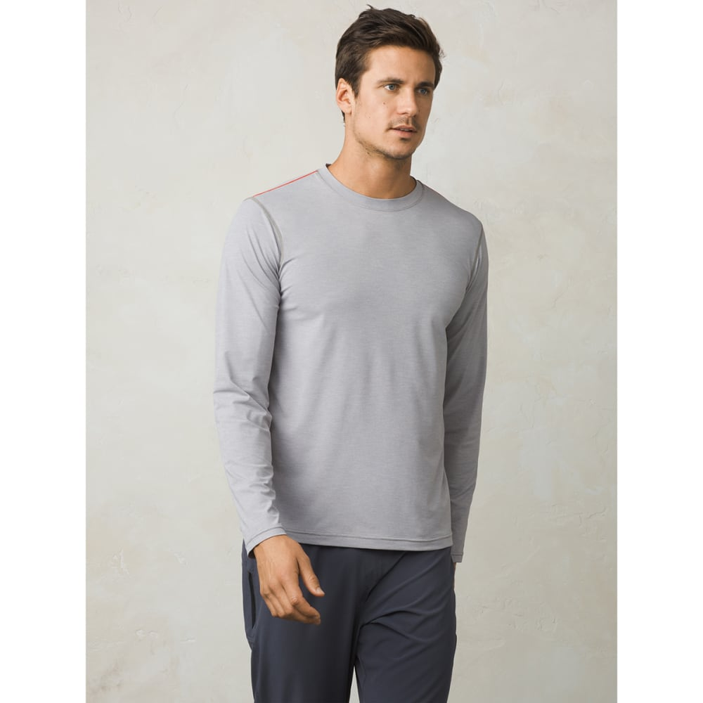 PRANA Men's Calder Long-Sleeve Sun Shirt - GREY - GRY