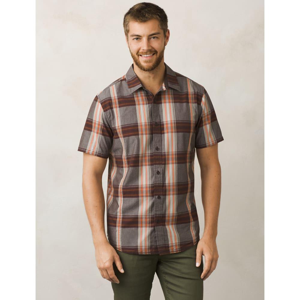 PRANA Men's Lukas Slim Short-Sleeve Shirt - MUD-MUD