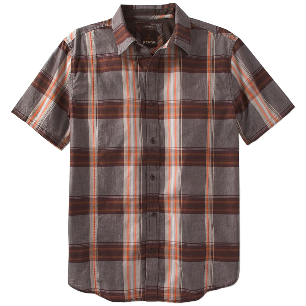 PRANA Men's Lukas Slim Short-Sleeve Shirt - MUD-MUD
