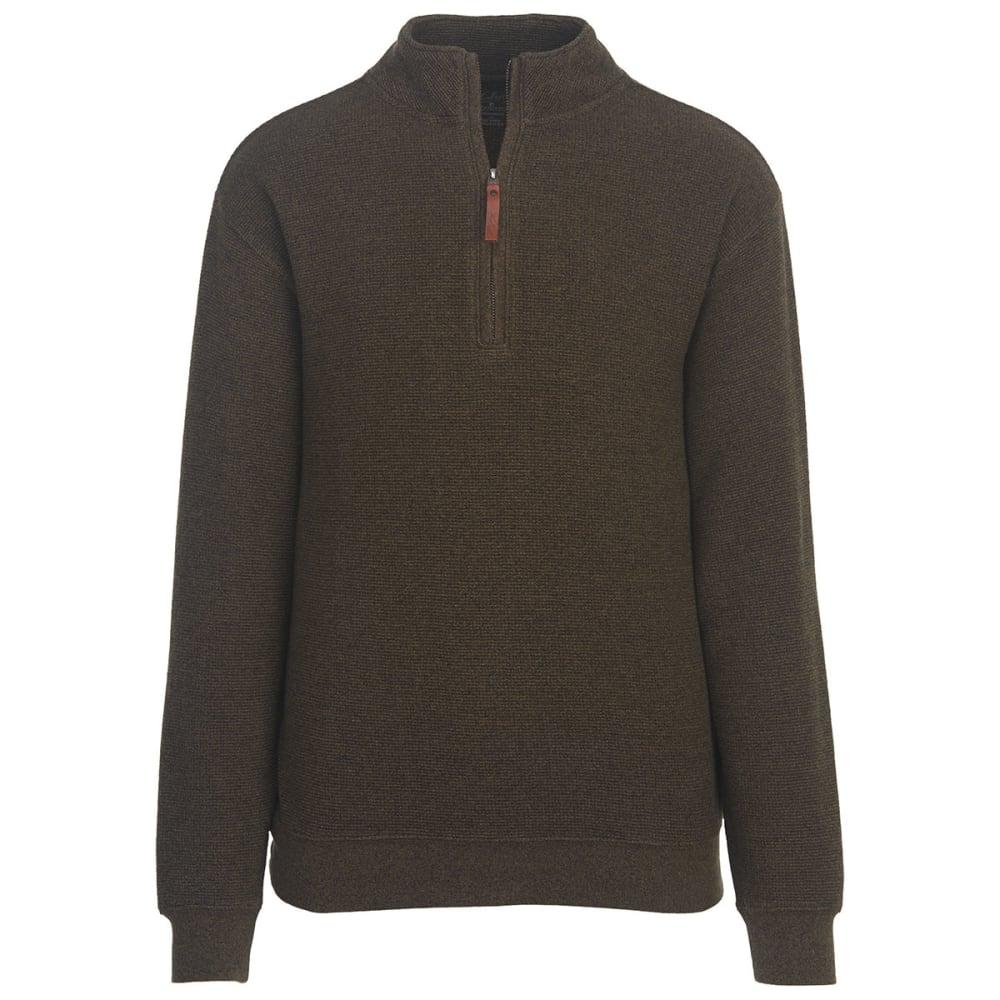 WOOLRICH Men's Bromley Half Zip Pullover - MOCHA HEATHER