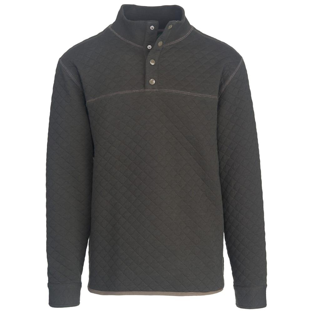WOOLRICH Men's West Creek Half Snap Modern Fit Pullover - ASPHALT