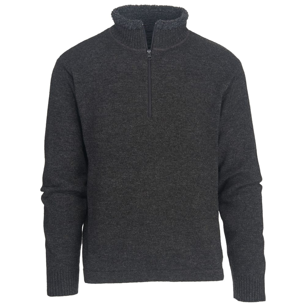 WOOLRICH Men's Rocky Oaks Half Zip Sweater - CHARCOAL