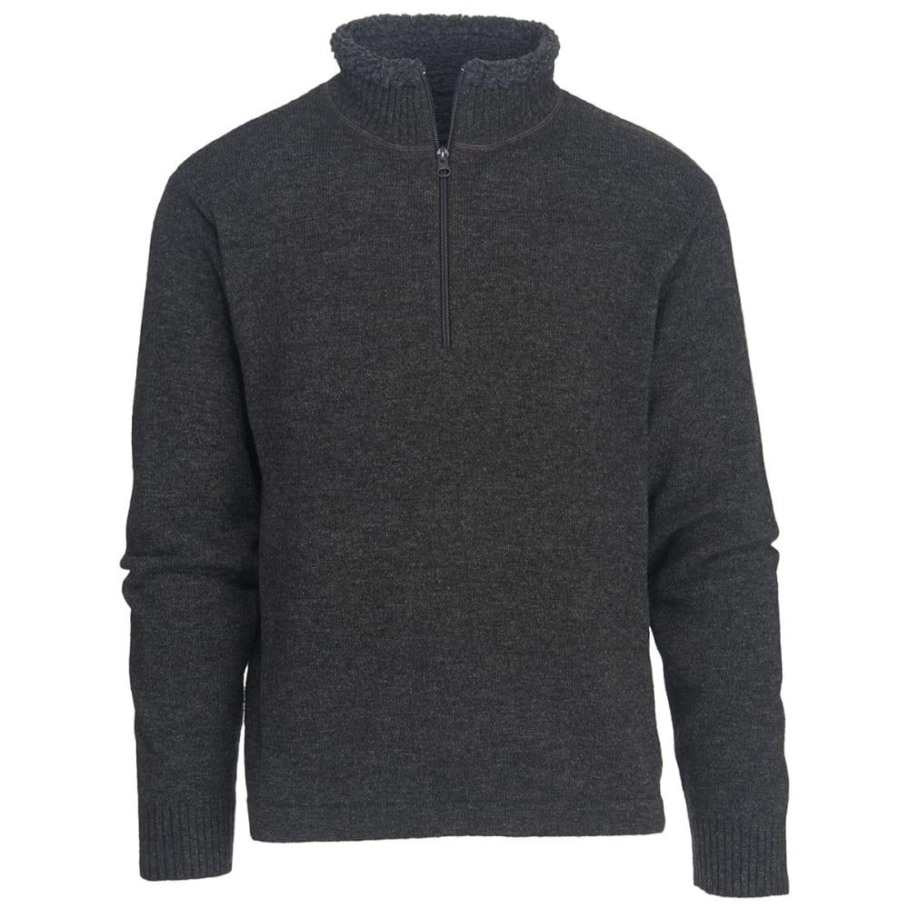 WOOLRICH Men's Rocky Oaks Half Zip Sweater - CHARCOAL