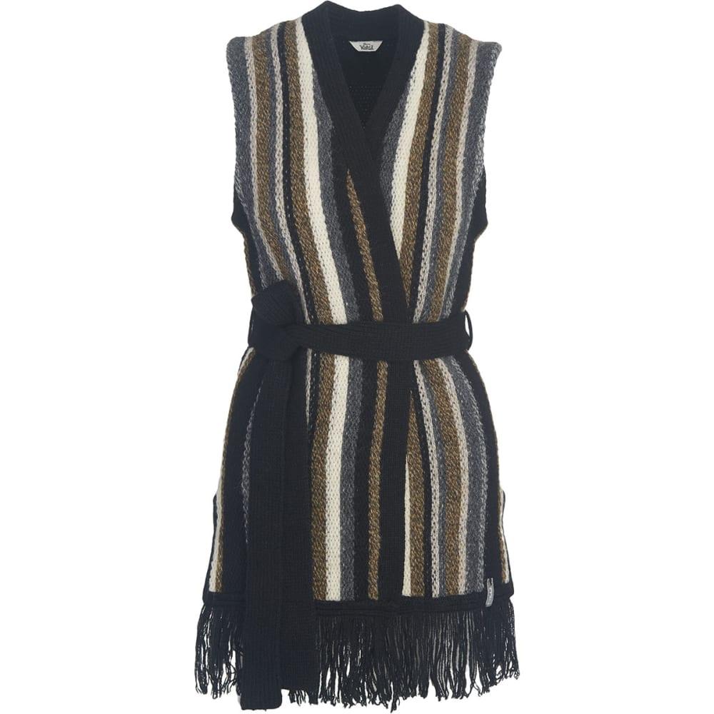 WOOLRICH Women's Shetland Fringe Vest - BLACK
