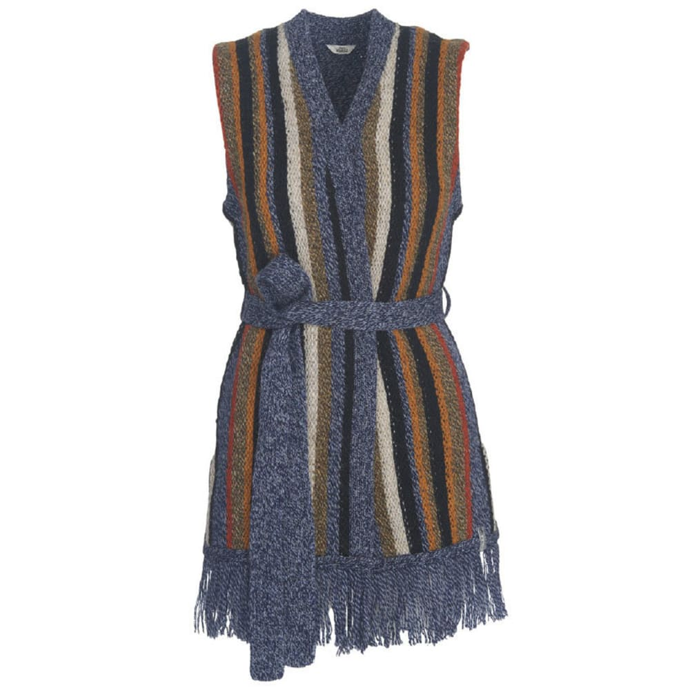 WOOLRICH Women's Shetland Fringe Vest - NEPTUNE