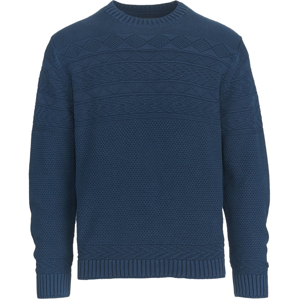 WOOLRICH Men's Deep Channel Guernsey Sweater - DEEP INDIGO