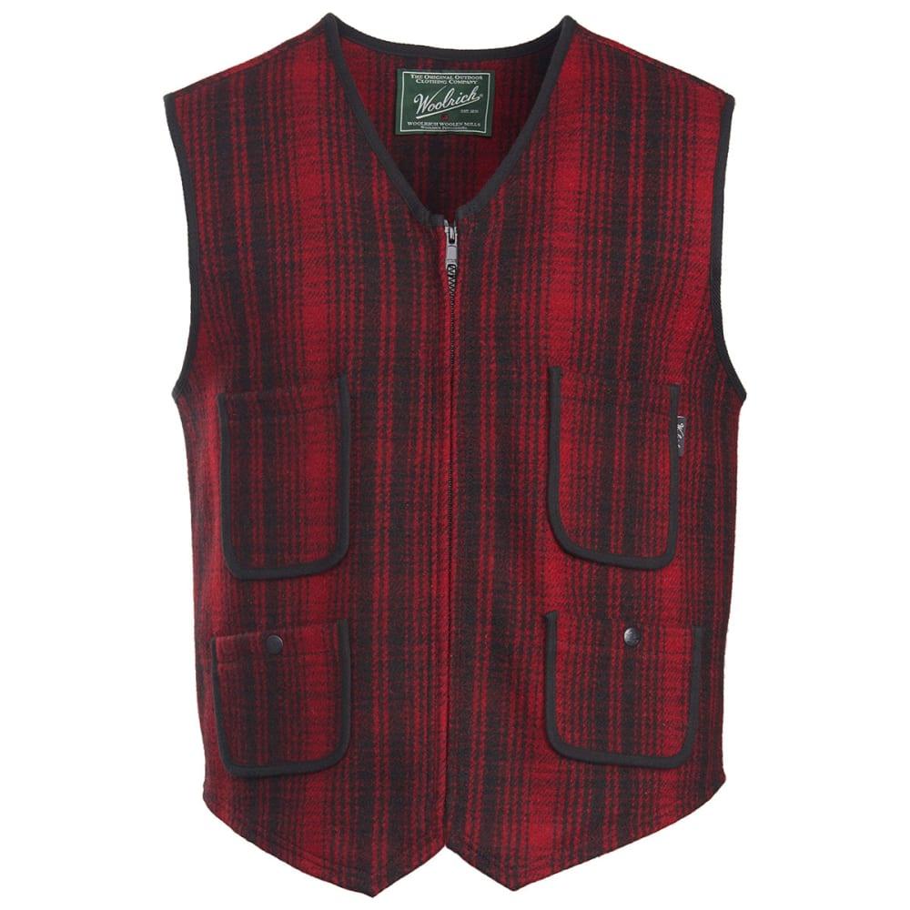 WOOLRICH Men's Utility Wool Vest - RED/BLACK