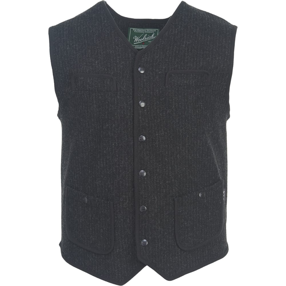 WOOLRICH Men's Utility Vest Snap Front Closure - NO COLOR