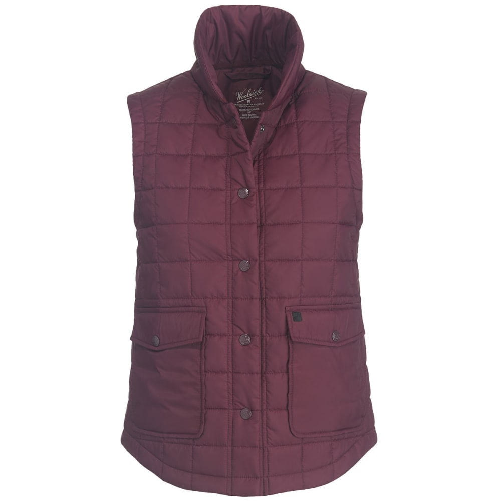 WOOLRICH Women's Exploration Heritage Eco Rich Packable Vest - WINE