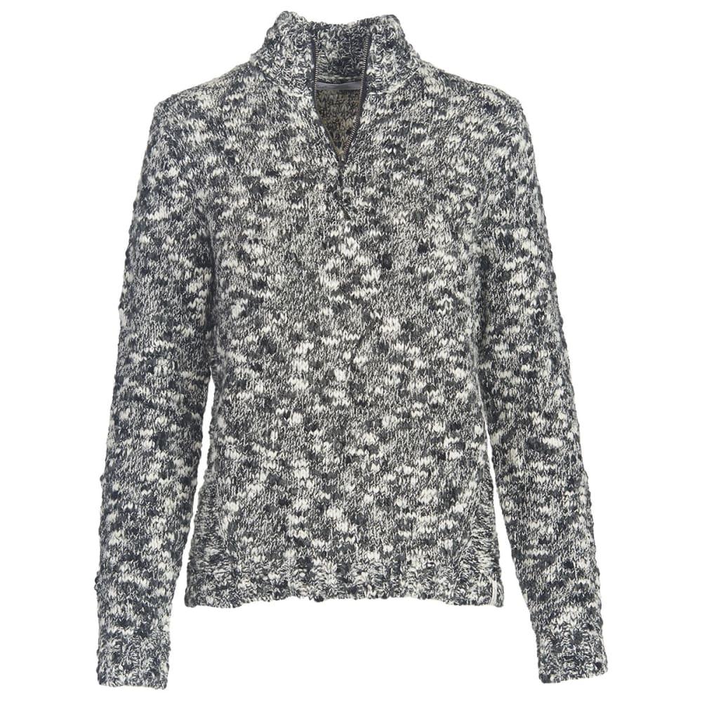 WOOLRICH Women's Alice Springs Half Zip Sweater - BLACK MIX