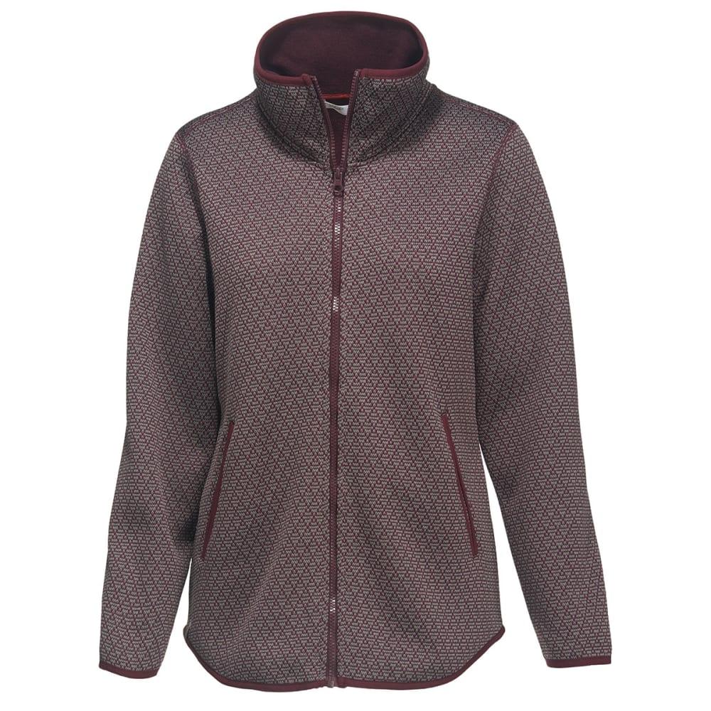 WOOLRICH Women's Lochlyn Fleece Long Full Zip Jacket - WINE