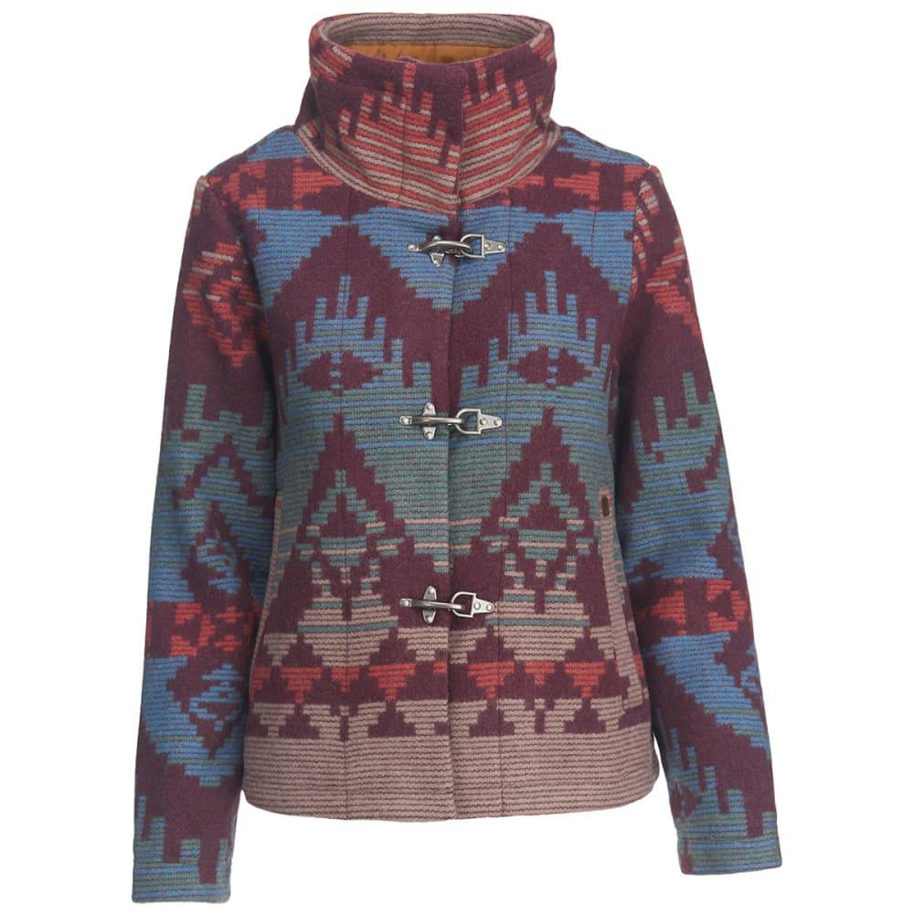 WOOLRICH Women 's Century Wool Jacquard Jacket - WINE