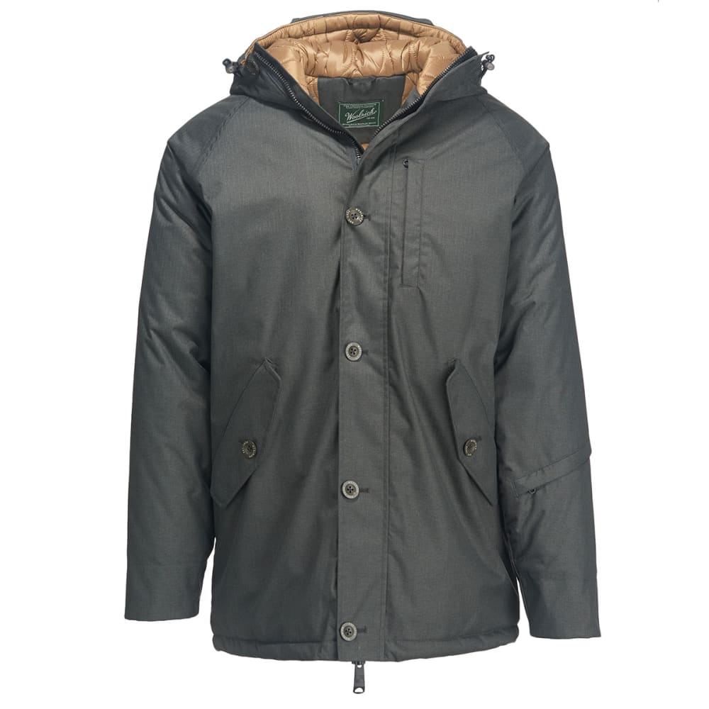 WOOLRICH Men's Snowroller Parka Jacket - ASPHALT